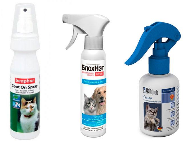 Спреи от блох для кошек и котов