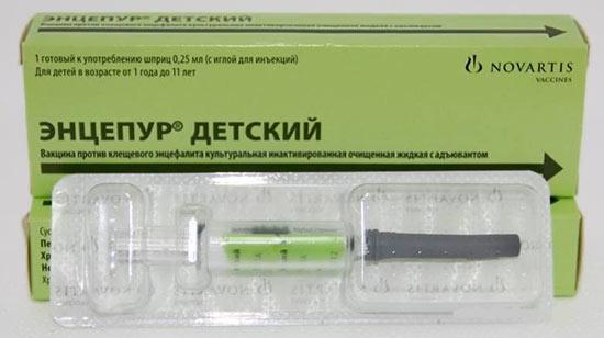 Энцепур детский от клещевого энцефалита