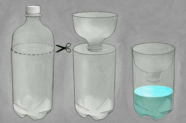 Ловушка для мух из бутылки своими руками