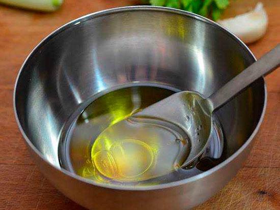 Уксус с маслом растительным от вшей