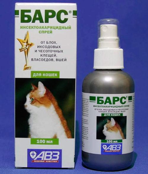 Спрей Барс для кошек от власоедов