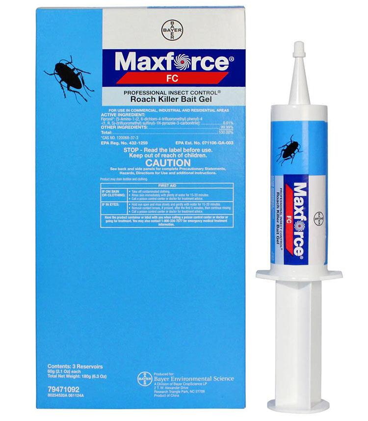 MaxForce от BAYER (Франция) гель от тараканов – один из самых эффективных