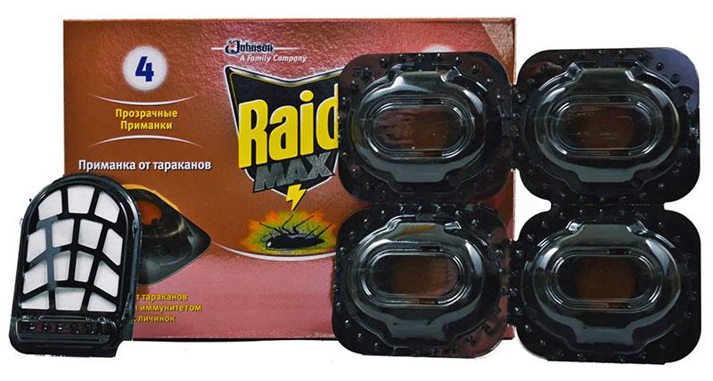 Ловушки для тараканов Raid Max
