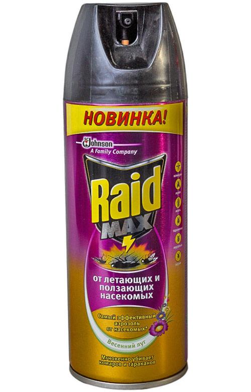 Самое эффективное средство от тараканов – Raid «Max» от летающих и ползающих насекомых